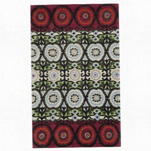 Safavieh Cdr17a Cedar Brook Cotton Pile Hand Loomed Ivory/multi Rug