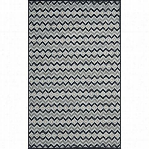 Safavieh Imr504a Isaac Mizrahi Wool Pile Hand Tufted Grey/black Rug