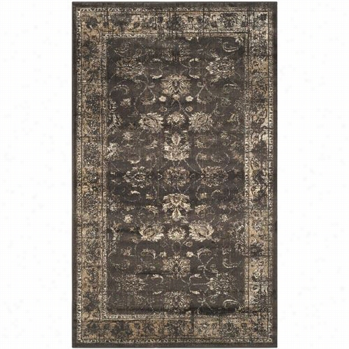 Safavieh Vtg117-330 Vintag Viscose Pile Power Loomed Soft Anthracite Rug