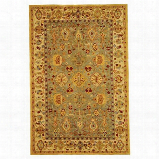 Safavieh An547a Anatolia Wool Hand Tufted Blue/ivory Rug