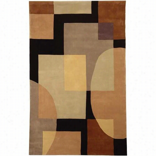 Satavieh Rd843a Rodeo Rush Wool Hand Tufted Olive/black Rug
