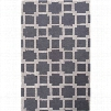 Jaipur RUG1 Medina Hand-Tufted Looped and Cut Polyester Gray/Ivory Area Rug