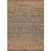 Jaipur RUG101302 Cosmos Plus Naturals Geometric Pattern Rayon/Jute Taupe/Blue Area Rug