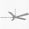 Minka Aire Sabot 1-Light Ceiling Fan in Brushed Nickel
