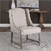 Uttermost Lyra Leather Accent Chair