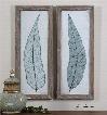 Uttermost Tall Leaves Framed Art Set of 2