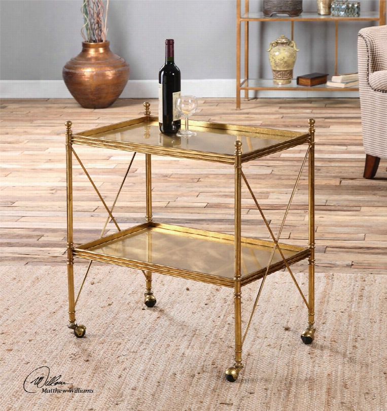 Uttermost Amaranto Serving Cart In Gold