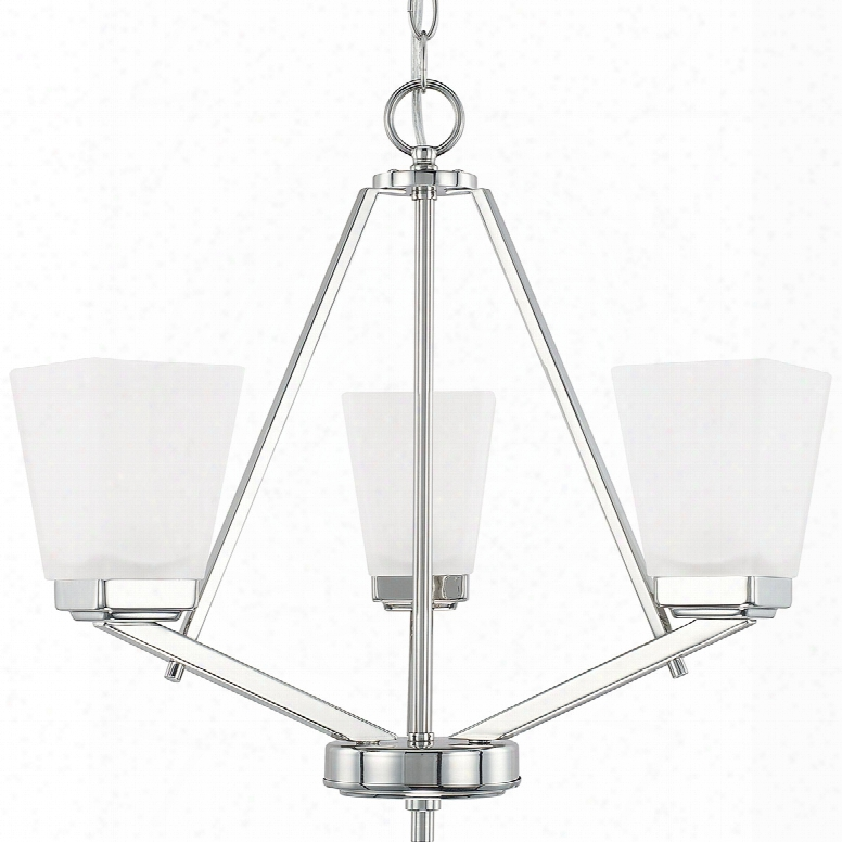 Capital Lighting Homeplace 3-light 20 Inch Chandelier In Polished Nickel