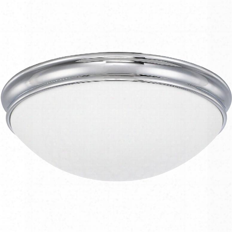 Capital Lighting Signature 3-light Flush Mount In Chrome