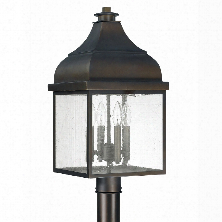 Capital Lighting Westridge 4-light Outdoor Post Lantern In Old Bronze