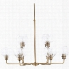 Capital Lighting Mid Century 10-Light Chandelier in Aged Brass