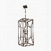 Murray Feiss Marquelle 6-Light Foyer Chandelier in Weathered Iron