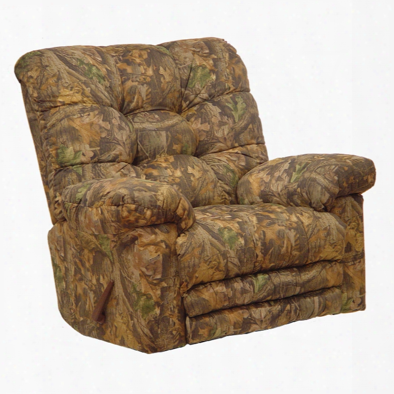 Catnapper Magjum Camouflage Oversized Chaise Rocker Recliner With Heat And Massage And X-tra Comfort Footrest In Infinity