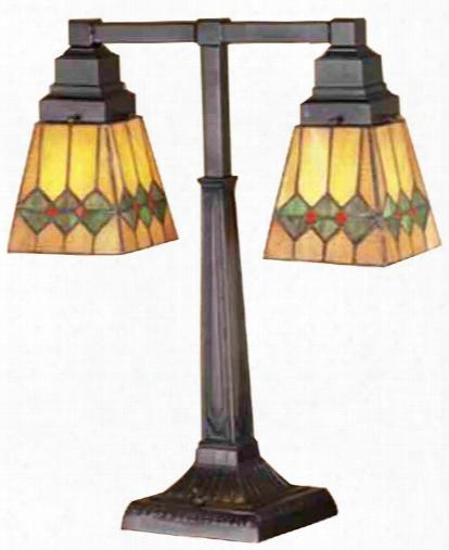 Meyda Tiffany Martini Mission 2 Arm Desk Lamp
