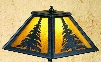 Meyda Tiffany Pines Accent Lamp - Yellow Amber