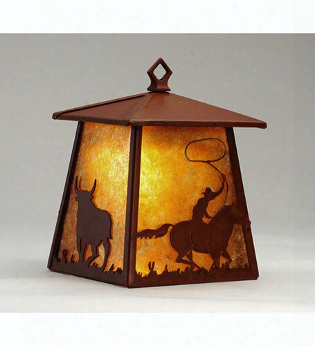 Meyda Tiffany Rustlers Lantern 1-light Wall Sconce - Amber