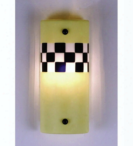 Meyda Tiffany Yellow Taxi Fused Glass Sconce