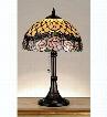 Meyda Tiffany Jeweled Rose Table Lamp