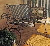 Stone County Ironworks Waterbury Bench with Back