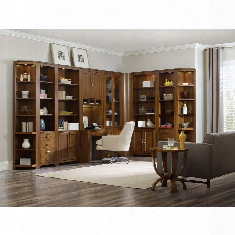 Hooker Viewpoint L Shaped Bookcase Office Wall