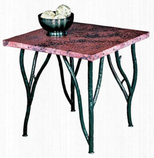 Stone County Ironworks Woodland Side Table