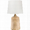 Surya Carter Table Lamp in Light Wood Tone