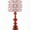 Surya Wilson Table Lamp with Red Print Shade