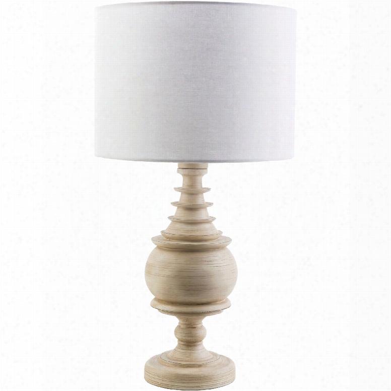 Surya Acacia Table Lamp With White Shade
