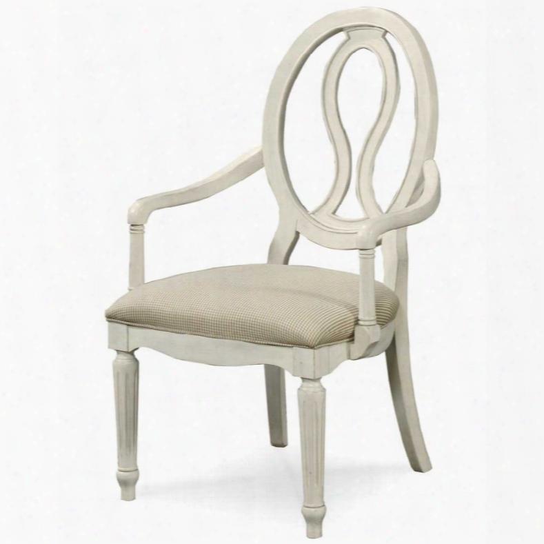 Universal Summmer Hill Cotton Pierced Back Arm Chair - Set Of 2