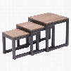 Zuo Era Civic Center Nesting Tables in Distressed Natural