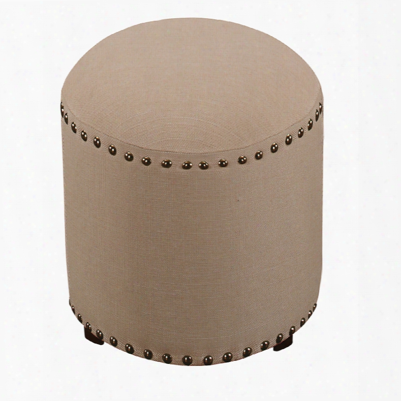 Hillsdale Furniture Laura Backless Vanity Stool With Cream Fabric