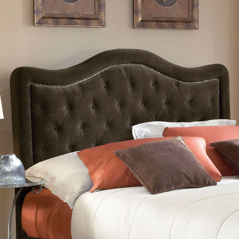 Hillsdale Furniture Trieste Fabric Upholstered Headboard In Chocolate Queen Size
