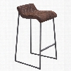 Zuo Era Father Barstool in Vintage Brown - Set of 2