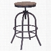 Zuo Era Twin Peaks Counter Stool in Distressed Natural