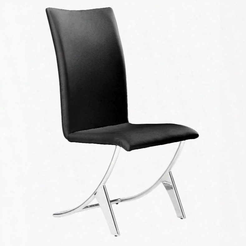 Zuo Modern Delfin Chair In Black - Set Of 2
