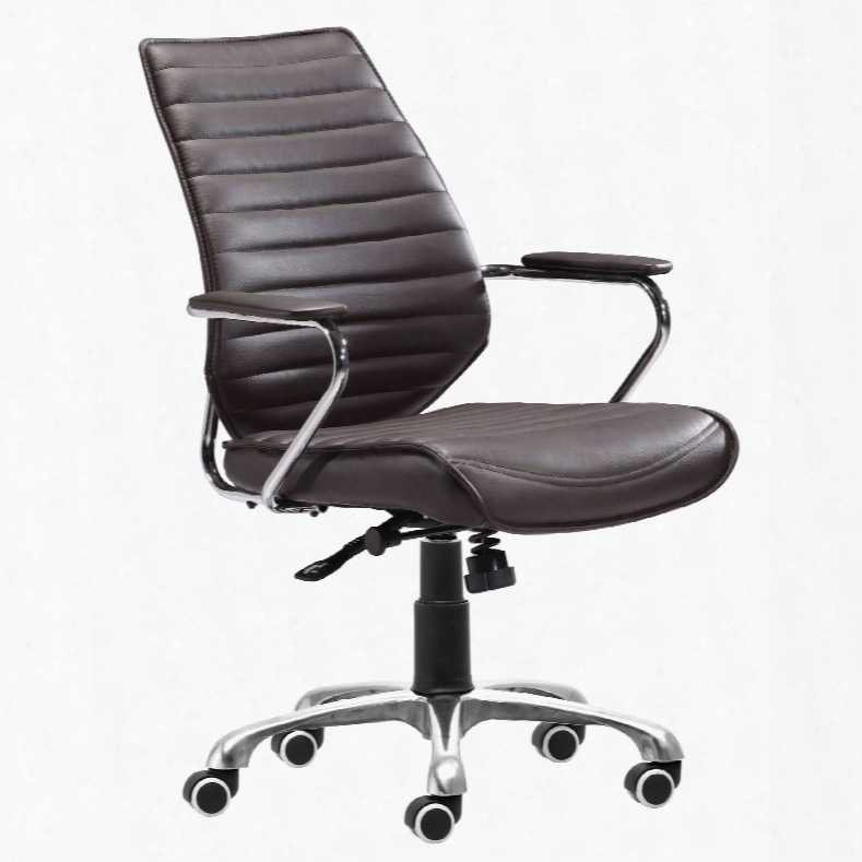 Zuo Modern Enterprise Low Back Office Chair In Espresso
