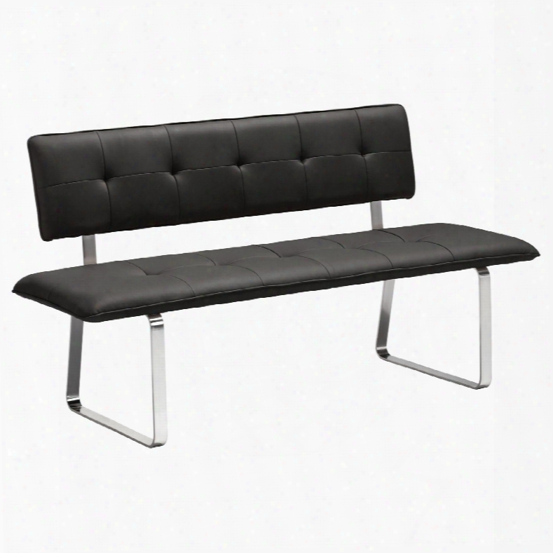 Zuo Modern Nouveau Bench In Black