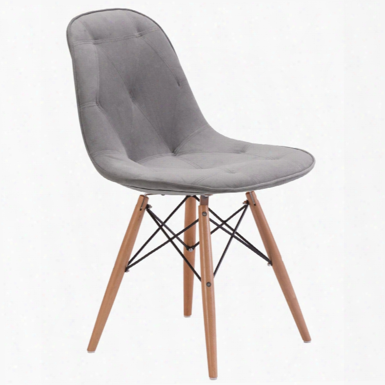 Zuo Modern Probability Dning Chair In Gray