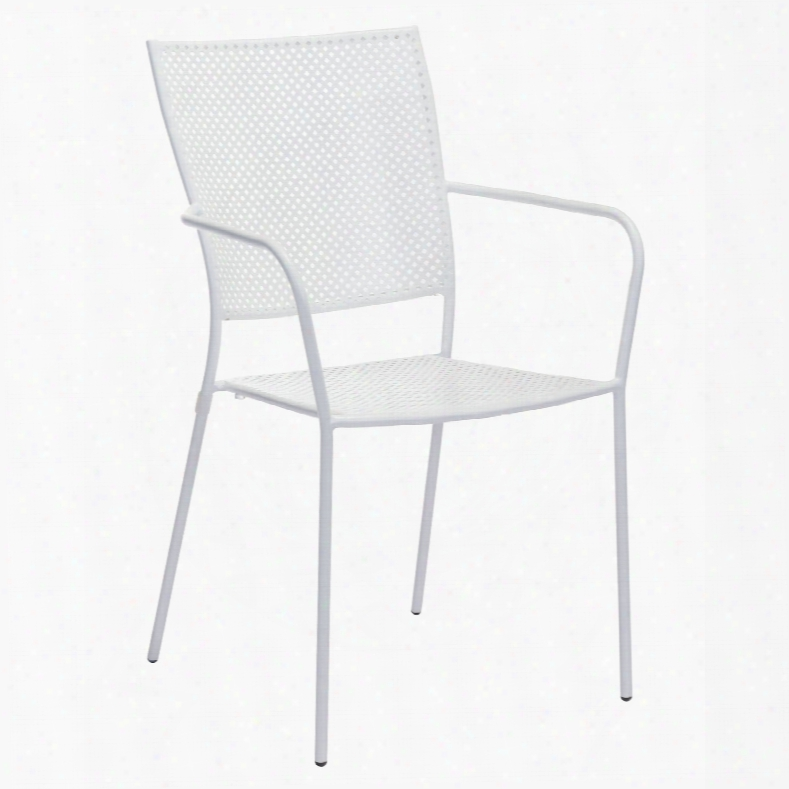 Zuo Vive Pom Dining Chair In White - Set Of 2