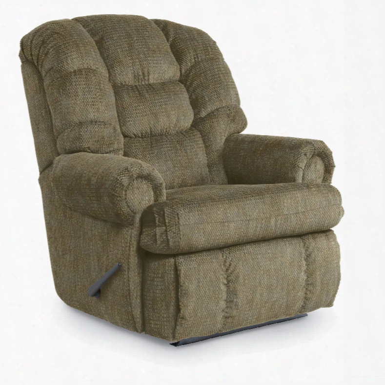 Lane Furniture Stallion Comfort King Hide-a-chaise Wallsaver Recliner In Campaign Parsley