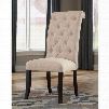 Signature Design by Ashley Pastoral Charm Tripton Dining Upholstered Side Chair in Linen Set of 2