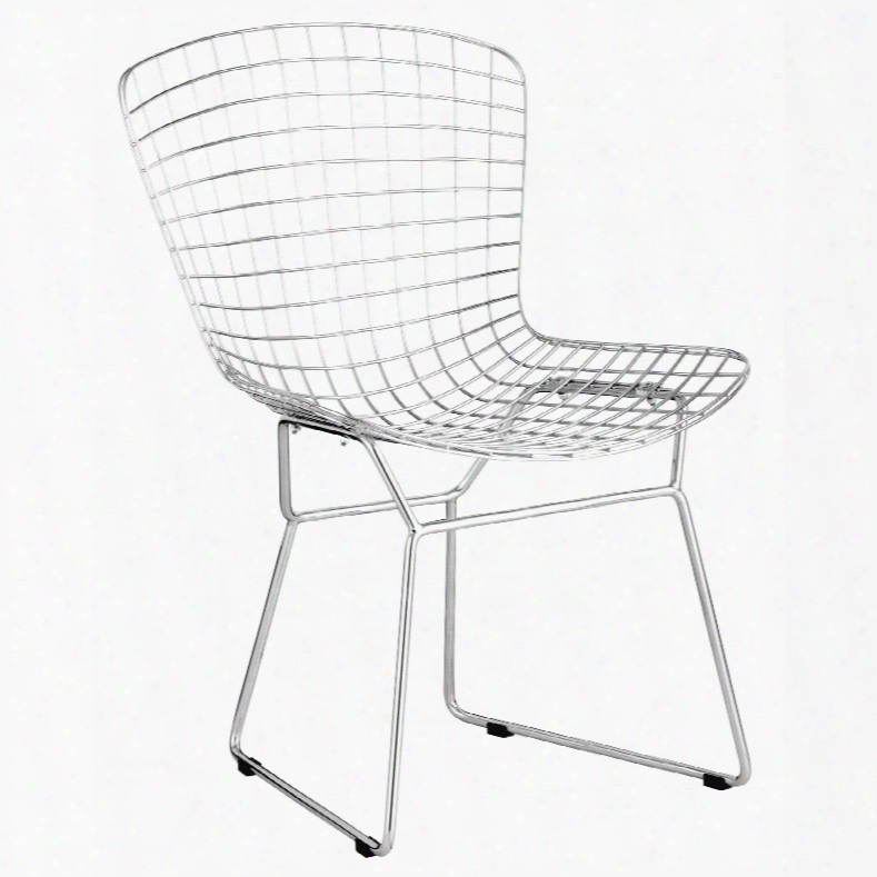 Zuo Modern Wire Dining Chair In Chrome Set Of 2