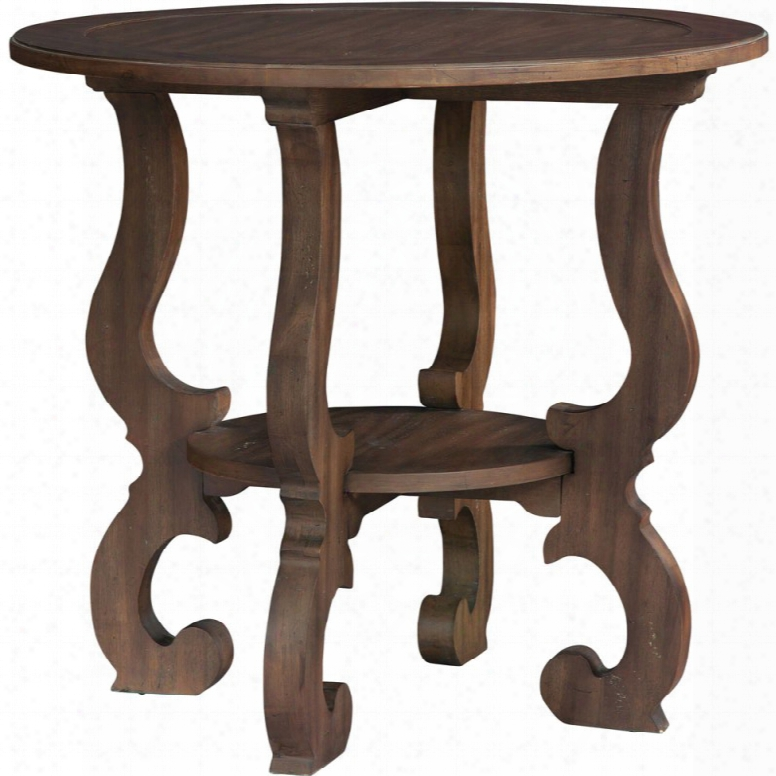 Hekman Napa Valley Baroque  Round Lamp Table