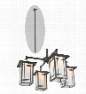 Meyda Tiffany Hyde Park Wright 4-Light Chandelier