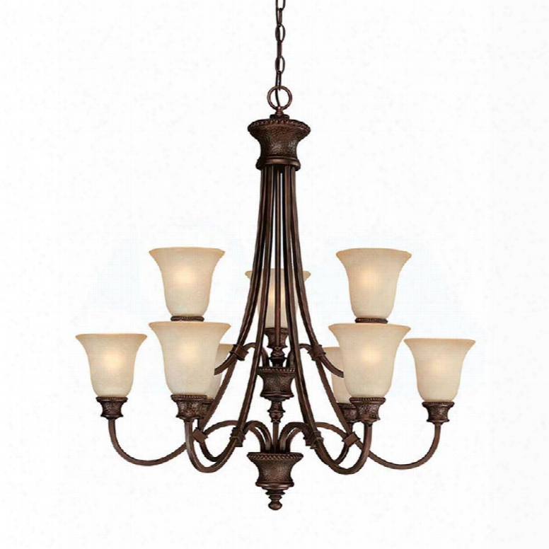 Capital Lighting Hill House 9-light Chandelier In Burnished Bronze