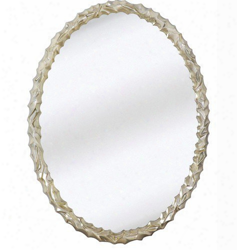 Majestic Mirrors Oval Textured Wall Mirror-chrome