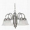 Capital Lighting 5-Light Chandelier in Matte Nickel