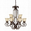 Capital Lighting Barclay 12-Light Chandelier in Chesterfield Brown