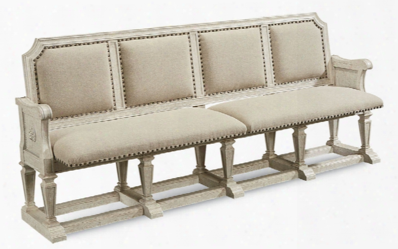 Art Furniture Arch Salvage Becket Dining Bench In Cirrus