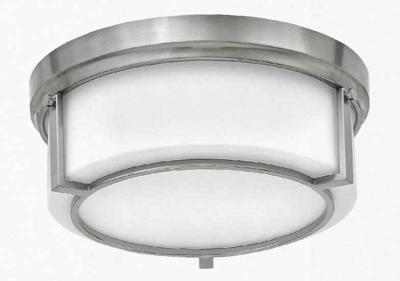 Hinkley Lighting Weston 2-light Foyer Flush-mount In Brushed Nickel